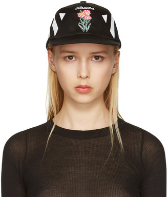 Off-White Black New Flower Cap $145 thestylecure.com