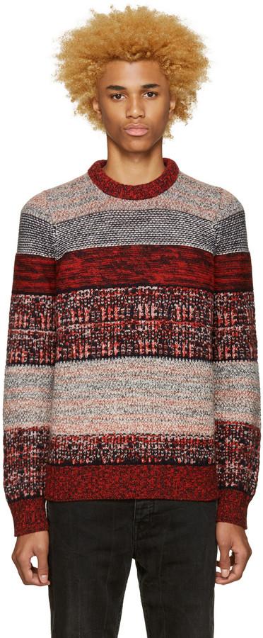 Acne Studios Tricolor Kai Rustic Sweater