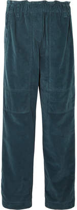 Brunello Cucinelli Cotton-velvet Pants - Teal