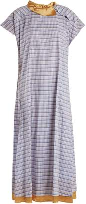 Toga Check-print cotton-poplin dress