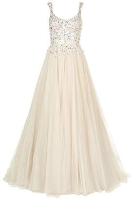 Jenny Packham Adara Embellished Bodice Tulle Gown