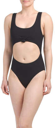 Ribbed Knot One-piece Swimsuit