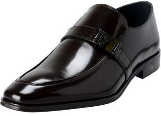 Versace Men's Polished Leather Loafers Shoes