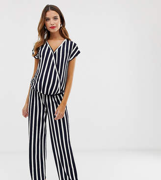 f307fd2eee4b0 Mama Licious Mama.Licious Mamalicious maternity stripe wrap jumpsuit