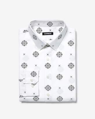 Express Slim Geo Print Dress Shirt