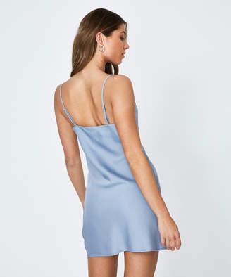 Alice In The Eve Billie Vintage Satin Slip Dress Blue