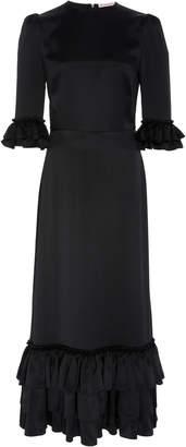 The Vampire's Wife Cinderella Ruffled Silk-Satin Midi Dress