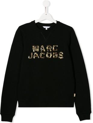Little Marc Jacobs TEEN beaded logo sweatshirt