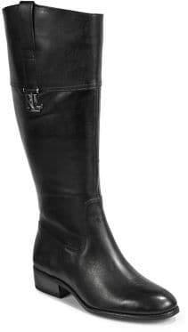 Lauren Ralph Lauren Leather Wide Calf Tall Boots