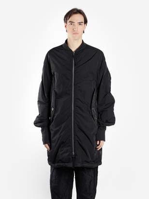 Ziggy Chen ZIGGY CHEN MEN'S BLACK PADDED LONG BOMBER COAT