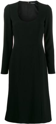 Dolce & Gabbana scoop neck dress