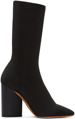 YEEZY Black Knit Ankle Boots $895 thestylecure.com