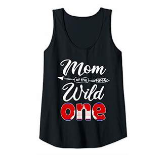 Womens Cambodian Mom of the Wild One Birthday Cambodia Flag Tank Top