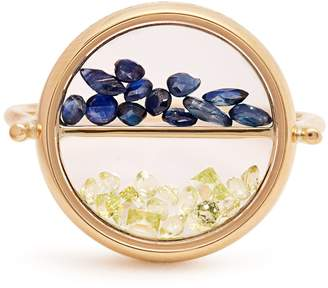 Aurelie Bidermann FINE JEWELLERY Sapphire, peridot & yellow-gold ring