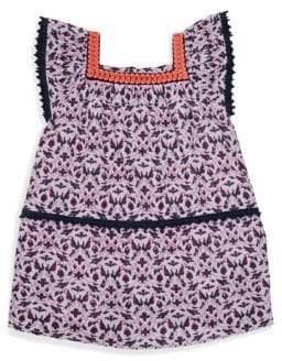 Oceania Roller Rabbit Girl's Print Trapeze Dress