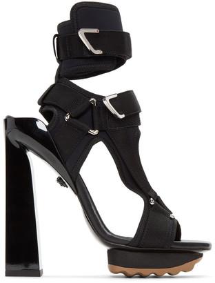 Versace Black Neoprene Sandals $1,225 thestylecure.com