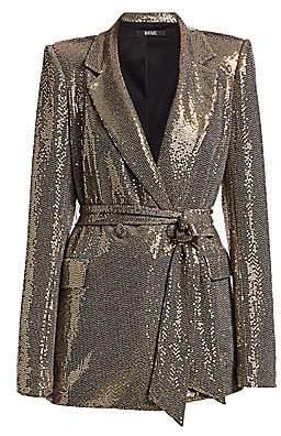 Badgley Mischka Women's Slim Line Sequin Jacket