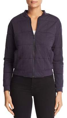 Majestic Filatures Quilted Knit Bomber Jacket