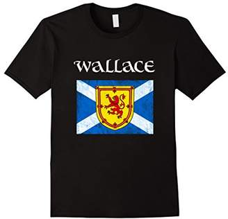 Wallace Scottish Clan Name T Shirt Coat Arms Lion Flag