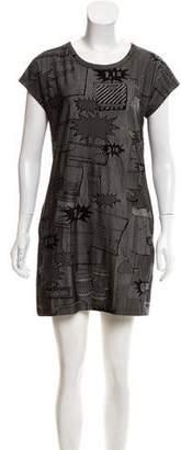 Pleats Please Issey Miyake Patterned Mini Dress