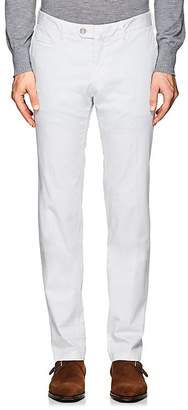 Isaia Men's Micro-Canvas Trousers