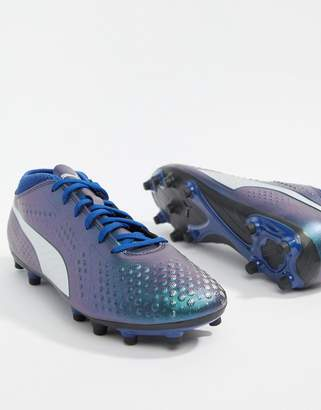 Puma Soccer One 4 Firm Ground Boots In Navy 104749-03