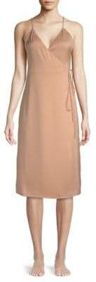 Wrap Slip Dress
