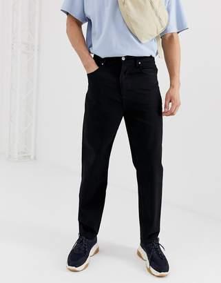 Asos Design DESIGN high waisted jeans in black