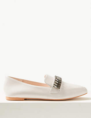 Marks and Spencer Jewel Trim Square Toe Loafers