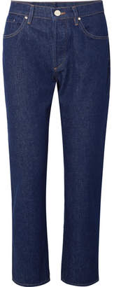 Gold Sign The Benefit High-rise Straight-leg Jeans - Dark denim