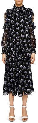 Ted Baker Hilaina Love Birds Cold-Shoulder Dress