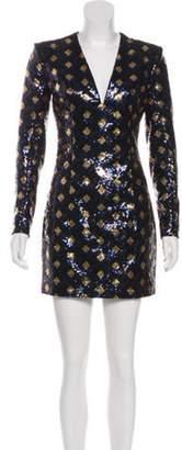 Balmain Mini Sequin Dress w/ Tags Blue Mini Sequin Dress w/ Tags