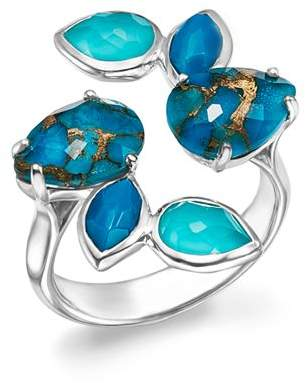 Ippolita Sterling Silver Rock Candy® Mixed Turquoise and Doublet Bypass Ring