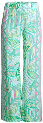 Lilly Pulitzer Bal Harbour Palazzo Print Wide-Leg Pants