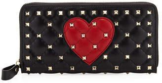 Valentino Spike.It Zip-Around Continental Wallet