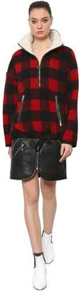 Etoile Isabel Marant Checked Wool Blend Pull-On Jacket