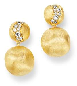 Marco Bicego 18K Yellow Gold Africa Constellation Diamond Drop Earrings