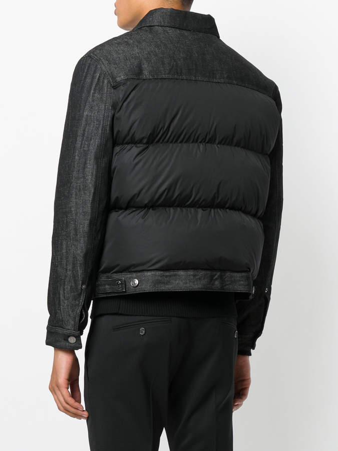 DSQUARED2 raw denim panel padded jacket