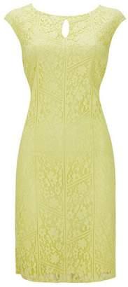 Wallis Lemon Lace Shift Dress