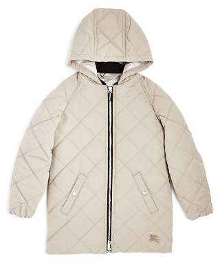 Burberry Girls' Mila Quilted Hooded Jacket - Little Kid, Big Kid