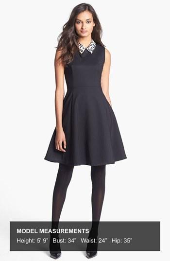 Kate Spade 'rissa' Cotton Blend Fit & Flare Dress