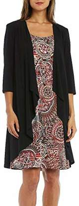 R & M Richards R&M Richards Women's Two Solid Jacket and Print Dress