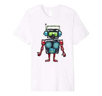 Cute Radio Robot Beat Bot Box Premium T-Shirt