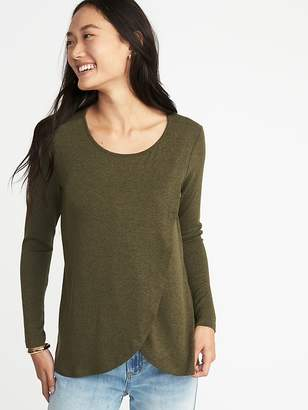 21c710f91d3 ... Old Navy Maternity Wrap-Front Luxe Nursing Tee