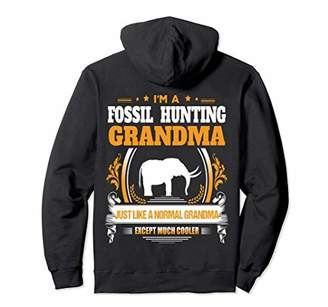 Fossil Hunting Grandma Christmas Pullover Hoodie for Men