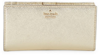 Kate Spade New York Crosshatched Leather Wallet $110 thestylecure.com