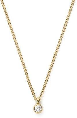 Chicco Zoë 14K Yellow Gold Bezel Diamond Necklace, 14""