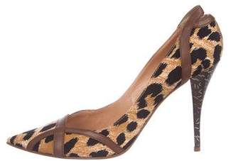 Casadei Printed High-Heel Pumps w/ Tags