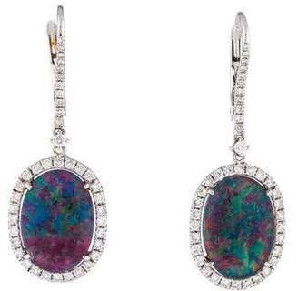 Rina Limor Fine Jewelry 18K Diamond, Quartz & Opal Triplet Drop Earrings