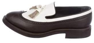 Brunello Cucinelli Monili Trim Leather Oxfords